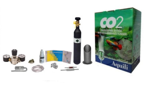 kit co2 plus aquili con bombola ricaricabile